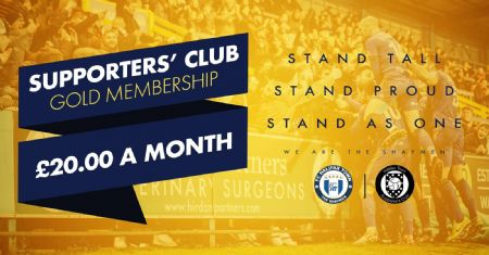 SUPPORTERS' CLUB GOLD MEMBERSHIP